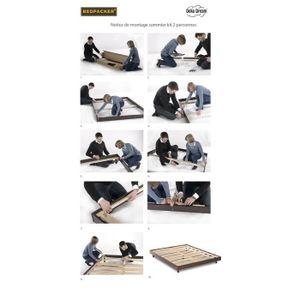 sommiers kit 140 190 achat vente sommiers kit 140 190 pas cher les soldes sur cdiscount. Black Bedroom Furniture Sets. Home Design Ideas