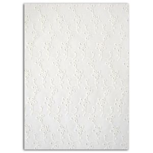 MLLE TOGA Dentelle thermocollant A5 - blanc broderie anglaise
