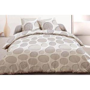 housse de couette beige achat vente housse de couette. Black Bedroom Furniture Sets. Home Design Ideas