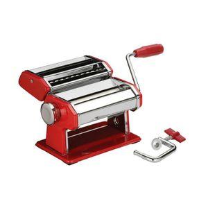 MACHINE À PÂTES Machine à pâtes Chrome et Rouge  Spaghetis Tagliat