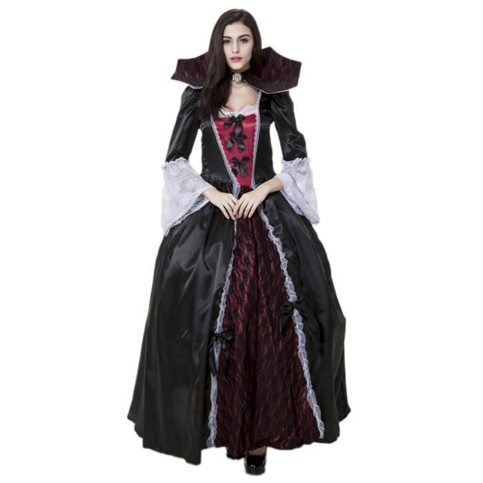 Smile vampire costumes halloween d guisement femme mascarade cosplay reine robe gothique achat - Costume femme halloween ...