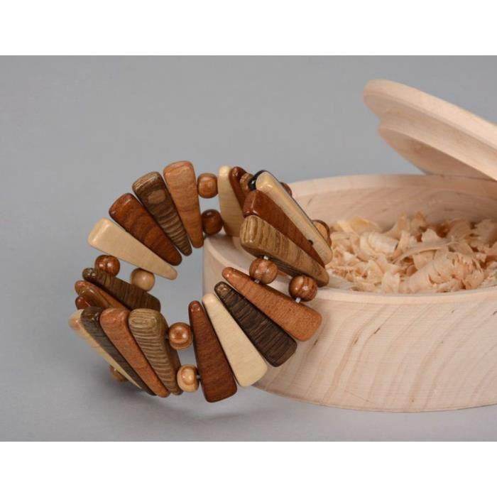 bracelet en bois sur fil lastique mode bijoux artisanaux. Black Bedroom Furniture Sets. Home Design Ideas