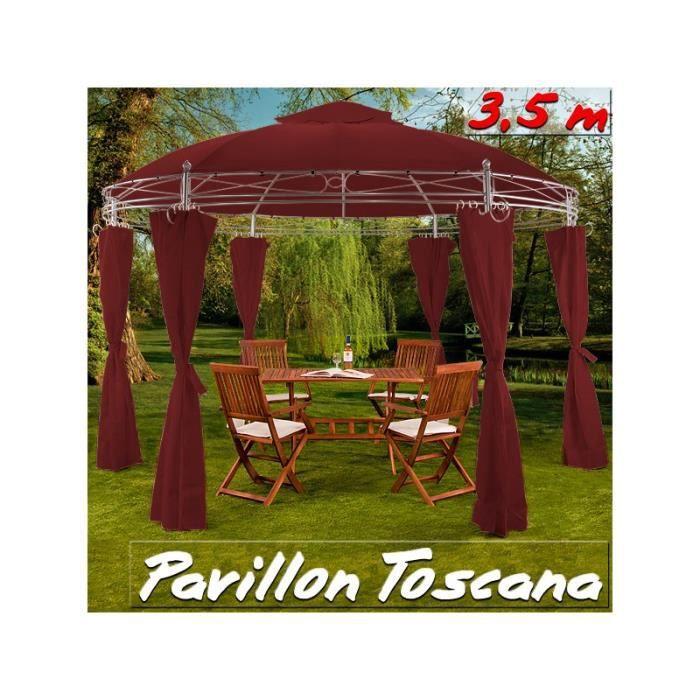 tonnelle de jardin 3 5 m bordeaux achat vente tonnelle barnum tonnelle de jardin 3 5 m. Black Bedroom Furniture Sets. Home Design Ideas