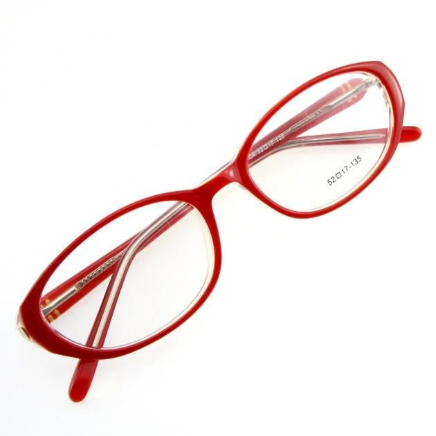 monture de lunettes de vue cercl e lc4 rouge blanc rouge blanc transparent achat vente. Black Bedroom Furniture Sets. Home Design Ideas