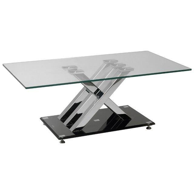 table basse moderne en verre et chrome xena achat vente table basse table basse moderne xena. Black Bedroom Furniture Sets. Home Design Ideas