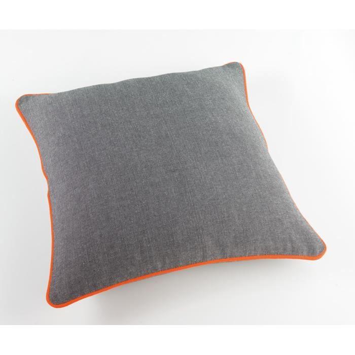 housse de coussin 40x40 jazzy orange achat vente. Black Bedroom Furniture Sets. Home Design Ideas