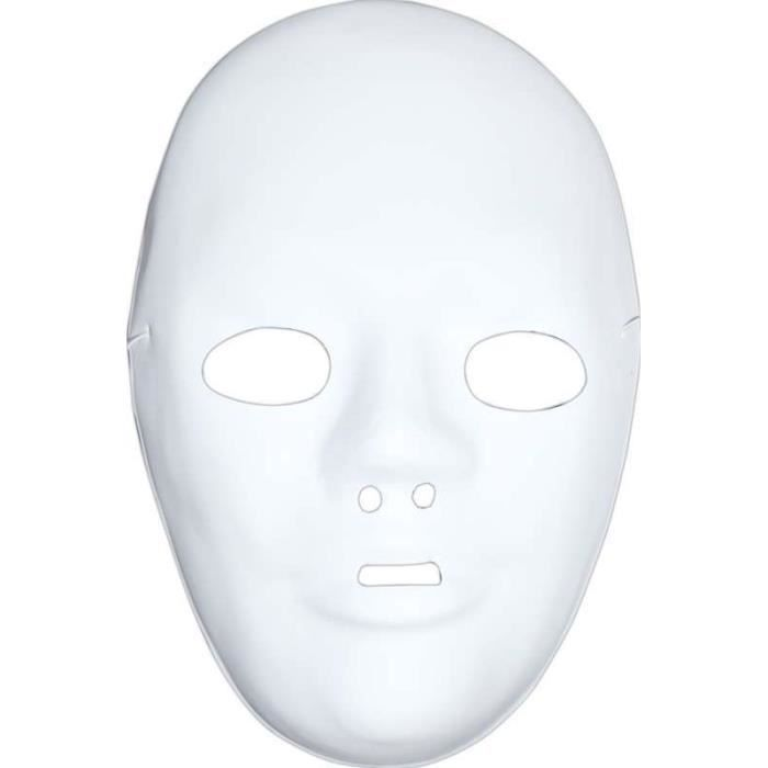 Masque tout blanc achat vente jeux et jouets pas chers for Decorer un masque blanc