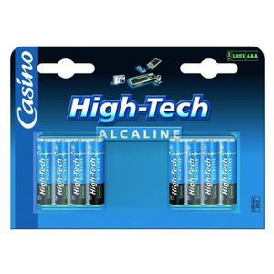CASINO High-Tech Piles alcalines LR03