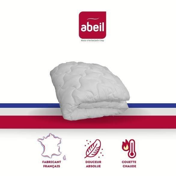 abeil couette chaude douceur absolue 240x260 cm blanc achat vente couette cdiscount. Black Bedroom Furniture Sets. Home Design Ideas