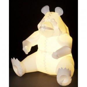 Lampe de chevet enfant panda l 39 origami blanc achat for Lampes de chevet enfant
