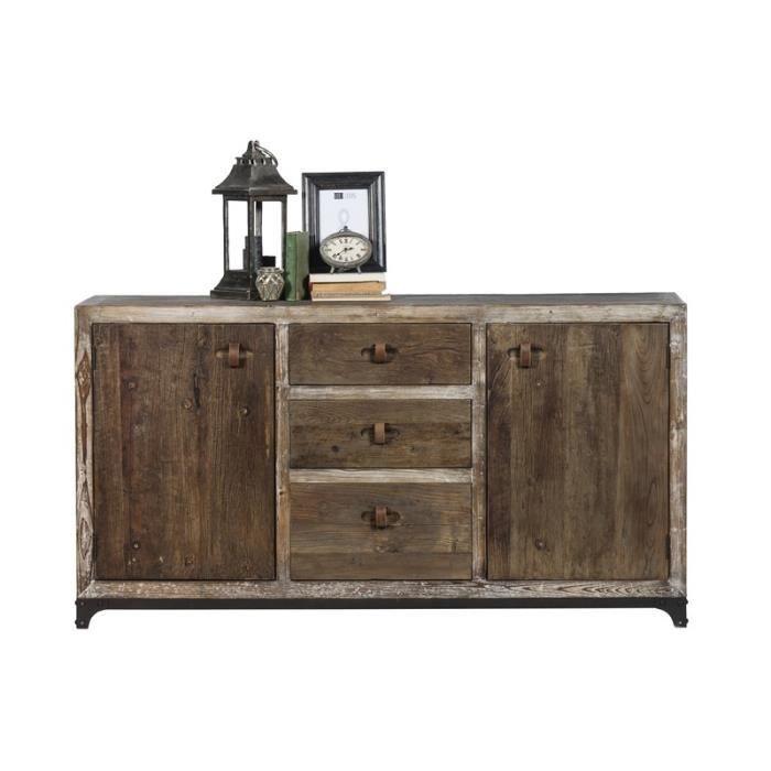bahut en bois vieilli 39 voyage 39 meuble house achat vente buffet bahut bahut en bois vieilli. Black Bedroom Furniture Sets. Home Design Ideas