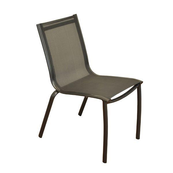 chaise en alu et toile textil ne gris lot de 4 achat vente chaise fauteuil jardin chaise. Black Bedroom Furniture Sets. Home Design Ideas