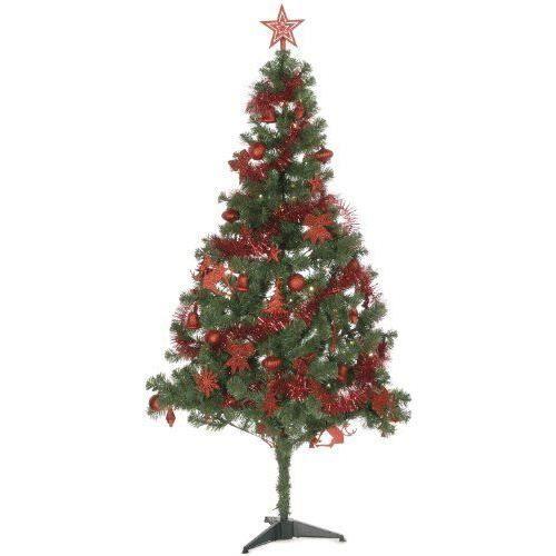 festive productions arbre de no l artificiel avec kit de d coration 75 pi ces et 80 ampoules led. Black Bedroom Furniture Sets. Home Design Ideas