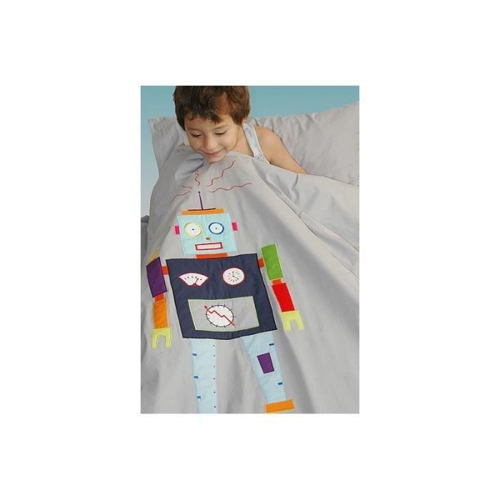 Housse De Couette Enfant Robot Taftan 140 X 200 Cm Avec