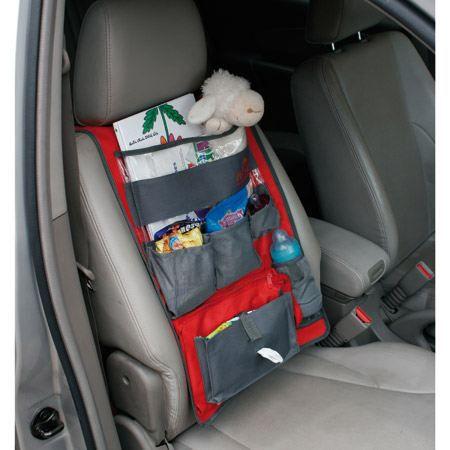 car bag organisateur de voiture rouge gris achat vente organiseur de si ge organisateur de. Black Bedroom Furniture Sets. Home Design Ideas