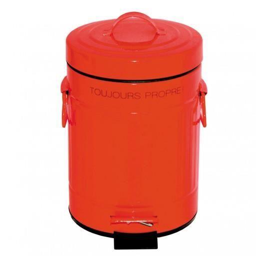 poubelle salle de bain r tro 3l rouge incidence achat. Black Bedroom Furniture Sets. Home Design Ideas