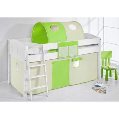 Lit enfant combin mezzanine complet sommier achat vente lit combin - Lit mezzanine combine ...