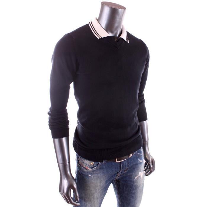 ea7 golf pull bleu marine col v homme t 2015 rlm08m bleu achat vente sweatshirt. Black Bedroom Furniture Sets. Home Design Ideas