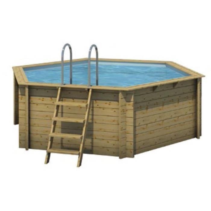 Piscine bois tropic hexa 410 achat vente kit piscine for Achat piscine bois