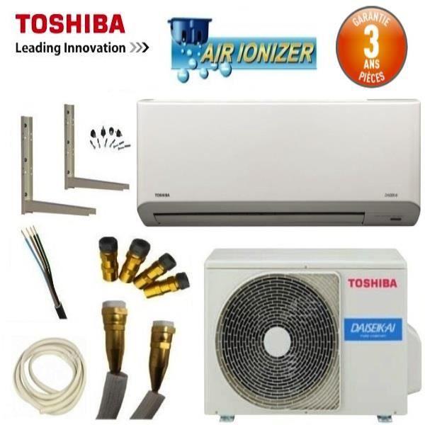 Pack climatiseur mural toshiba daiseikai ras 07 achat for Achat climatiseur mural