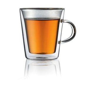 BODUM CANTEEN Set 2 verres double paroi avec anse 0.2 l Transparent