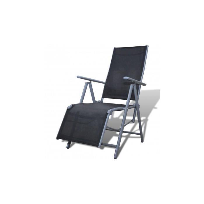 Meuble de jardin chaise pliante armature en aluminium for Achat meuble jardin
