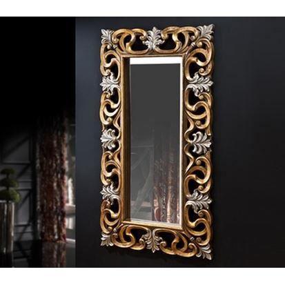 Miroir rectangulaire argent et or 168x92 cm achat for Miroir rectangulaire argent