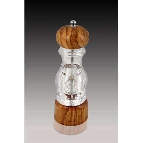 moulin a epices en bosi et methacrylate 20 cm achat vente moulin herbe pice moulin a. Black Bedroom Furniture Sets. Home Design Ideas
