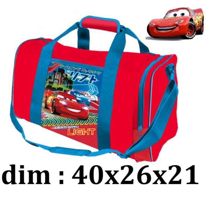 sac de voyage enfants cars voiture h ro disney flash mac queen pour sport loisirs gar ons 40 cm. Black Bedroom Furniture Sets. Home Design Ideas