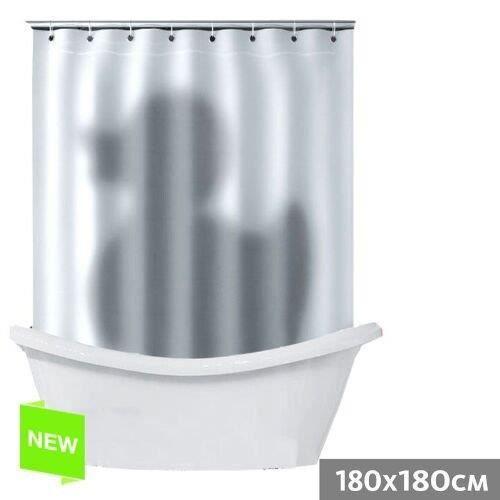 Rideau de douche canard de bain 180x180 cm po achat vente rideau de douche polyester - Rideau de douche 180x180 ...