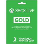 ABONNEMENT Abonnement Xbox Live Gold 3 mois