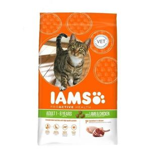 IAMS Croquettes ? l'agneau - Toutes races - 0,3kg - Pour chat adulte (x4)
