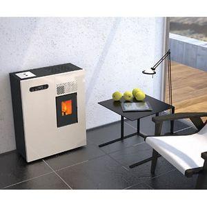 po le a granule de bois kw rouge achat vente po le insert foyer po le a granule de. Black Bedroom Furniture Sets. Home Design Ideas