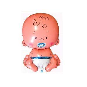 BALLON DÉCORATIF  Lot 5 petit ballon bébé aluminium Garçon - Baptême