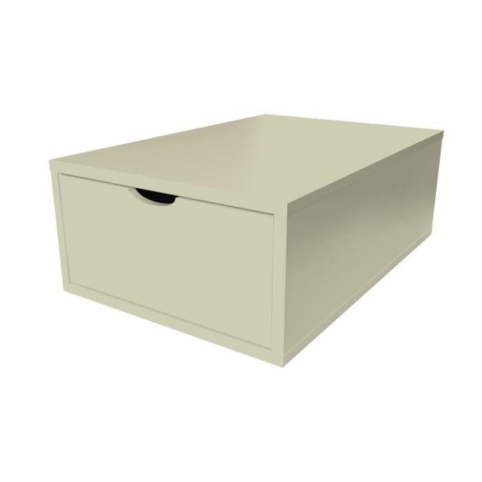 Cube de rangement largeur 75 cm tiroir bois achat vente petit meuble ra - Rangement avec tiroir ...
