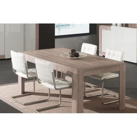 Table manger gris laqu et couleur ch ne gris moderne nevaeh table 160 cm - Table salle a manger gris laque ...