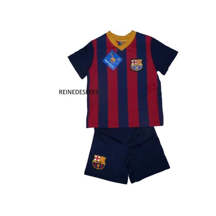 Ensemble tenue de foot fc barcelone maillot et short enfants logo fcb pour gar ons 3 4 ans fan - Logo barcelone foot ...