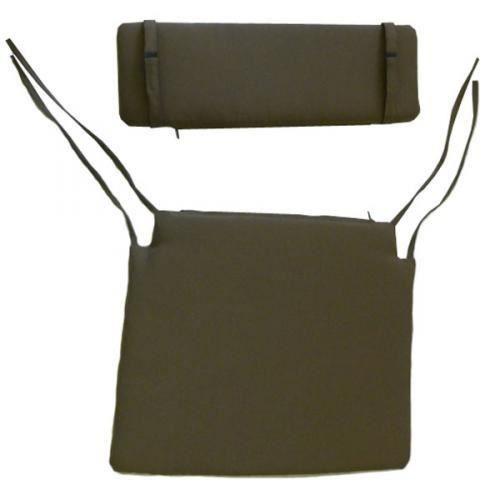 Coussins assise dossier pour chaise pliante taupe - Coussin pour chaises ...