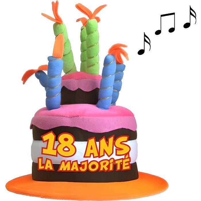 chapeau perruque chapeau anniversaire 18 ans musical
