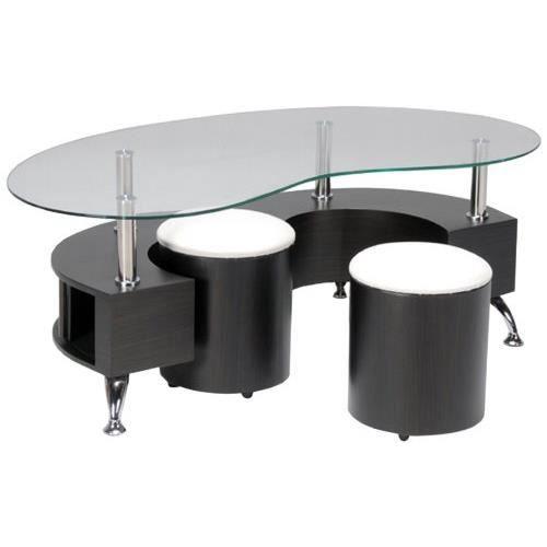 table base poufs d cor wenge mdf panneau de particules verre trempe 130 x 70 x 45 cm. Black Bedroom Furniture Sets. Home Design Ideas