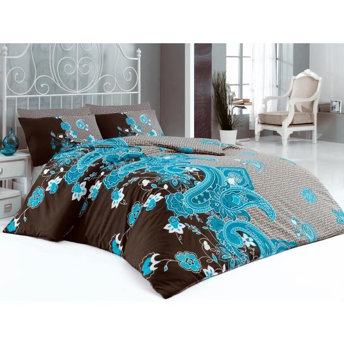 parure de lit 240x220 cm coussins 60x60 cm achat vente housse de couette cdiscount. Black Bedroom Furniture Sets. Home Design Ideas
