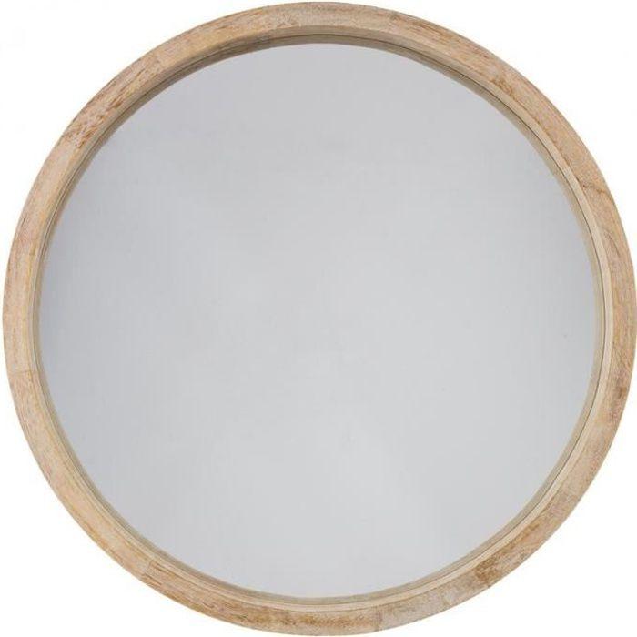 miroir rond bois achat vente miroir rond bois pas cher les soldes sur cdiscount cdiscount. Black Bedroom Furniture Sets. Home Design Ideas