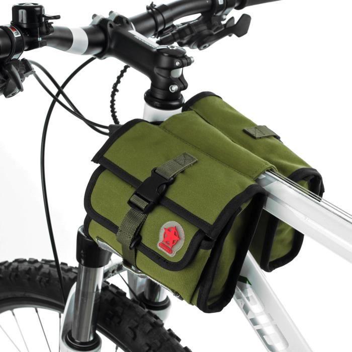 roswheel sac sacoche de cadre v 233 lo en toile silicone r 233 sistant 224 l usure pour cyclisme