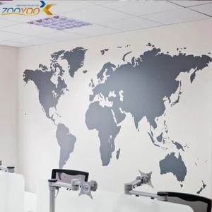 Stickers muraux carte du monde achat vente stickers for Planisphere pour enfant