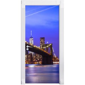 New york brooklyn bridge comme mural format 200x90cm for Autocollant mural new york