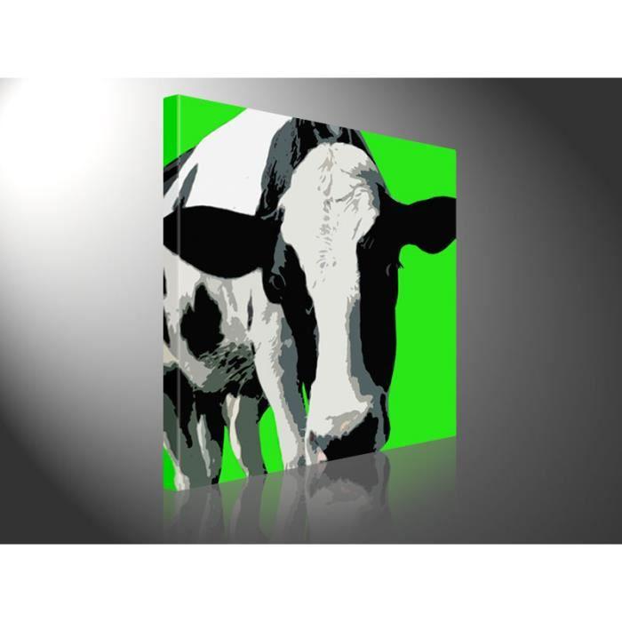 toile tableau pop moderne design 80 x 80 cm vache achat vente tableau toile toile bois. Black Bedroom Furniture Sets. Home Design Ideas