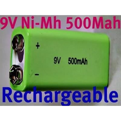 Pile 9v rechargeable ni mh 500mah achat vente piles - Pile 9v rechargeable ...