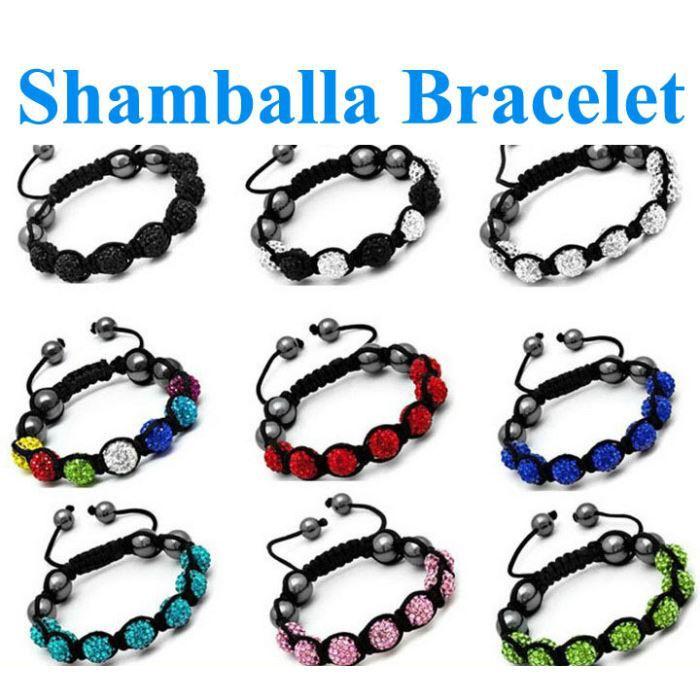 lot 10 bracelet shamballa 7 perle tous different achat vente bracelet gourmette lot 10. Black Bedroom Furniture Sets. Home Design Ideas