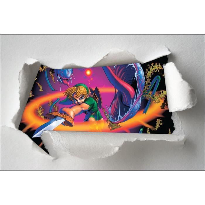 Stickers enfant papier d chir zelda r f 7603 dimensions for Achat maison zelda