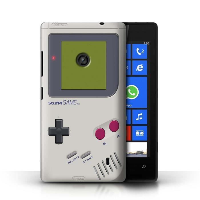 Coque nokia lumia 520 game boy design console jeux vid o collection coque de stuff4 - Console jeux video pas cher ...